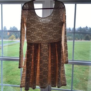 Free People Lace Dress Long Sleeve